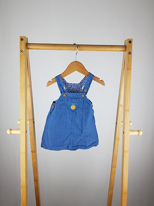 M&S blue pinafore dress 0-3 months