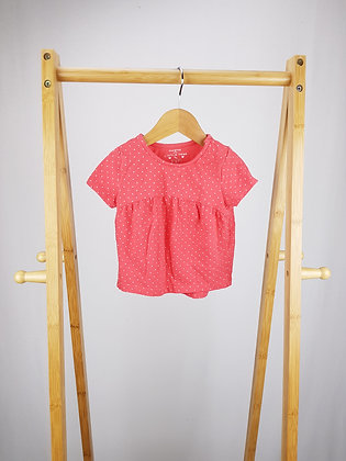 F&F spotted t-shirt 9-12 months