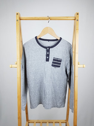 George grey buttoned long sleeve top 13-14 years
