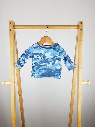 Next blue long sleeve top up to 1 month