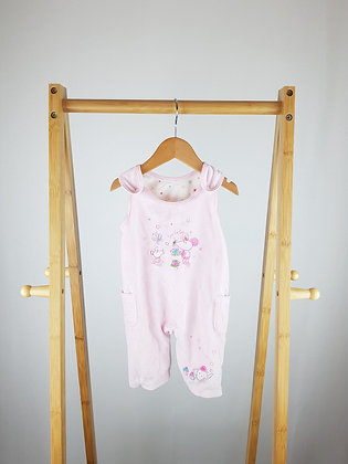 M&S embroidered velour dungarees 0-3 months