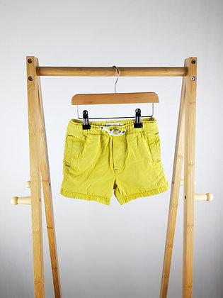 Mini Boden yellow shorts 4 years