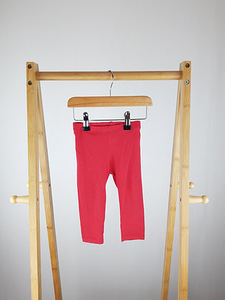 H&M red leggings 9-12 months