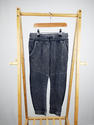 H&M washed black joggers 6-7 years