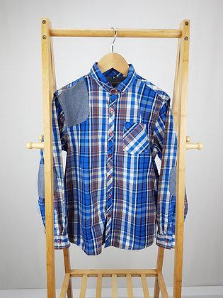 Next blue checked shirt 12 years