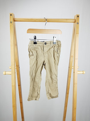 H&M beige trousers 12-18 months