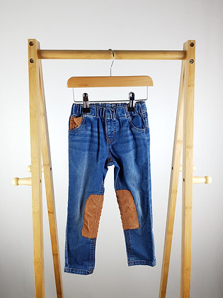 Mothercare cord patchwork jeans 3-4 years