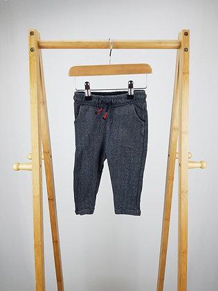 M&S tweed look joggers 9-12 months