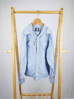 H&M blue striped shirt 9-10 years