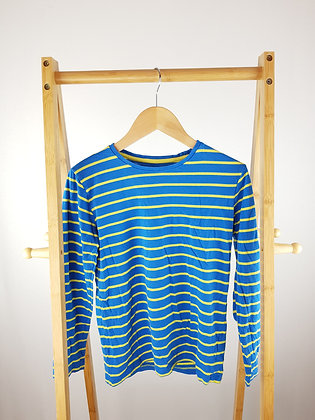 M&S blue striped long sleeve top 11-12 years