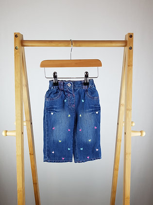 George embroidered lined jeans 3-6 months