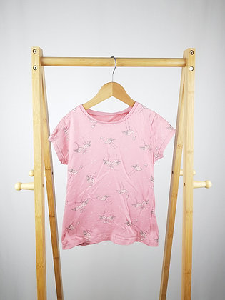 George pink flamingo t-shirt 7-8 years
