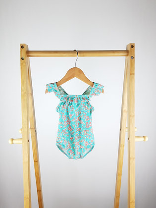 Mothercare blue floral swimsuit 9-12 months