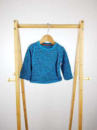 Peacocks blue long sleeve top 6-9 months