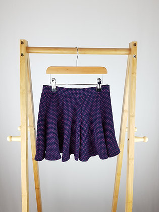 M&S navy/pink dotted skirt 7-8 years