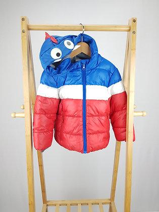 F&F monster padded coat 3-4 years