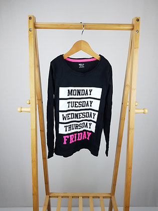 F&F days of the week long sleeve top 7- 8 years