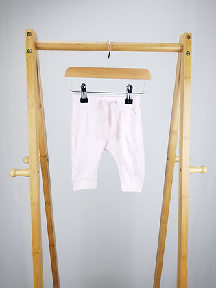 M&S pink cotton joggers 0-3 months