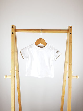 Mothercare white t-shirt 0-3 months