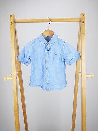 Next blue short sleeve shirt 18-24 months