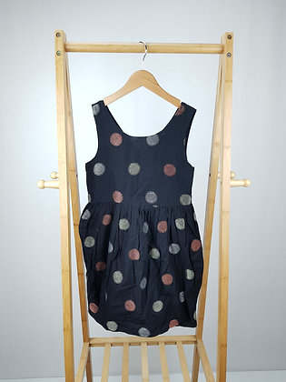 Nutmeg spotted dress 8-9 years
