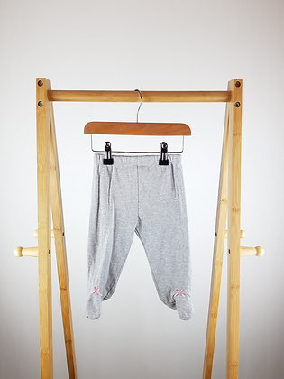 Grey bottoms with closed feet 6-9 months