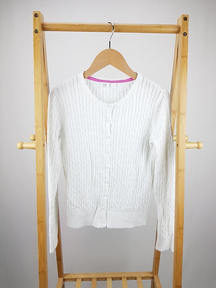 GAP white cable knit cardigan 13-14 years