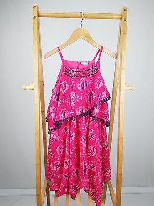 Matalan pink patterned dress 11 years