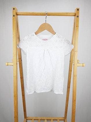 F&F white t-shirt 8-9 years