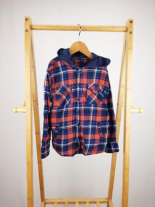 George hooded tartan shirt 6-7 years