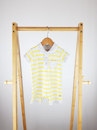 Mothercare striped polo romper 3-6 months