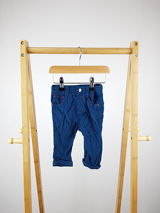 Ted Baker blue cord trousers 6-9 months