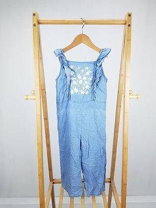 George embroidered denim jumpsuit 7-8 years