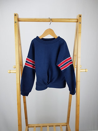 George navy tie knot sweater 5-6 years