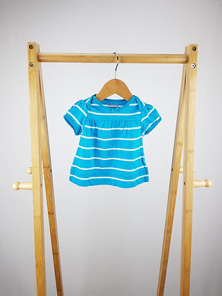 Place blue t-shirt 0-3 months