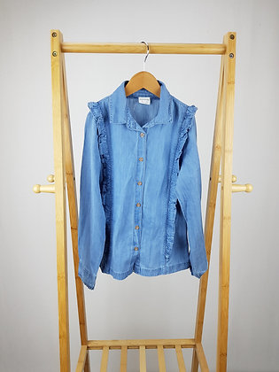 F&F denim shirt blouse 8-9 years