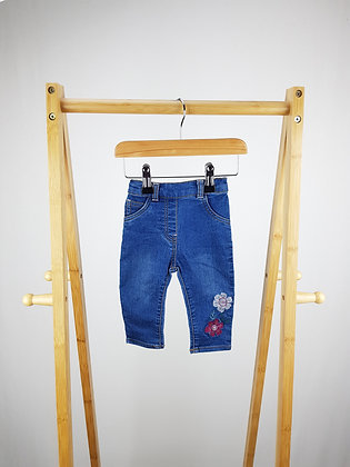 George embroidered jeans 3-6 months