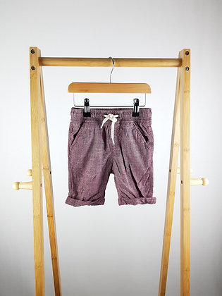 TU burgundy shorts 3-4 years