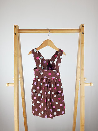 George spotted cord pinafore dress 9-12 months