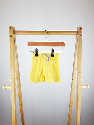 George yellow shorts 3-6 months