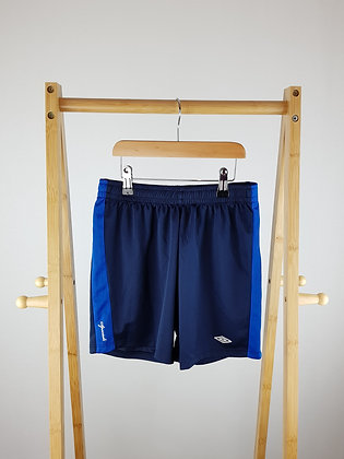 Umbro navy football shorts 9-10 years
