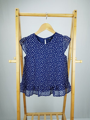 George spotted blouse top 11-12 years