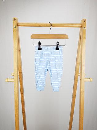George striped blue bottoms 3-6 months