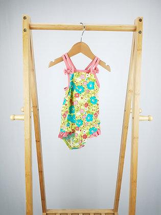 M&S floral swimsuit 18-24 months