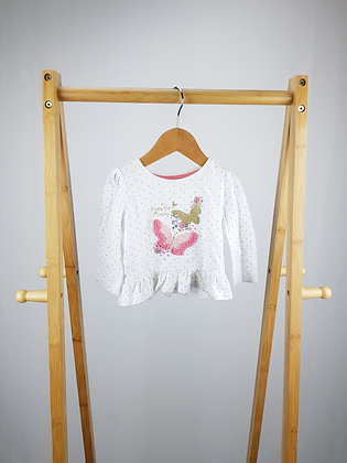 Primark butterfly long sleeve top 6-9 months