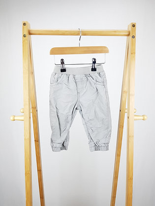 George grey lined trousers 9-12 months
