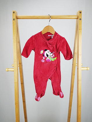 Disney babay Minnie Mouse velour sleepsuit 0-3 months