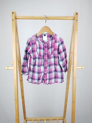 M&Co checked blouse 4-5 years