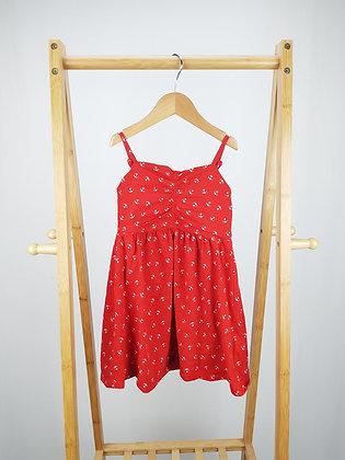 M&S red nautical dress 4-5 years