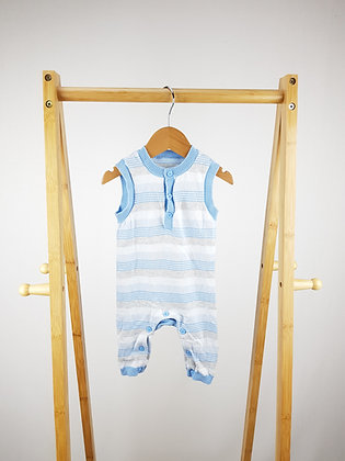 Mothercare striped knitted romper 0-3 months